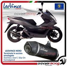 Leovince Nero - Escape acero aprobado Honda PCX 125 / 150 2012>2016