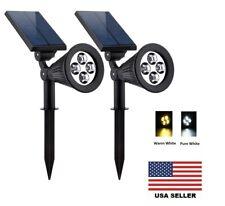 Solar Lights Waterproof 4 Led Solar Spotlight Landscape Lighting Auto Sensing