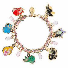 NEW Disney Store Princess Aurora Sleeping Beauty Maleficent Charm Bracelet Set
