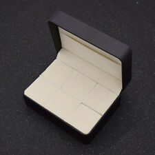 Empty Gift Storage Box Jewelry Cases For 6 Pairs Cuff Links Tie Clip Organizer