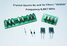 "Crystal Quartz 8x and 4x Filters ""DESNA"", Frequency 8.867 MHz. Assembled units"