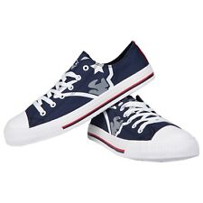 New England Patriots Big Logo Low Top Sneakers Team Color Shoes US Men's Sizing