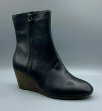 NEW Clarks Ladies Black Leather Wedge Ankle Boots UK 5 D / EUR 38