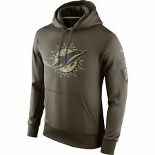 MIAMI DOLPHINS Nike 2015 Salute to Service Hoodie LARGE -- AWESOME !!!!