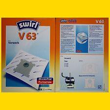 Vorwerk Tiger 250 251 252 8 Staubsaugerbeutel 2 Original SWIRL V 63 MicroPor