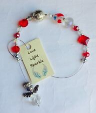 Stunning Ruby Red Twinkle Crystal Angel Sun Light  Catcher