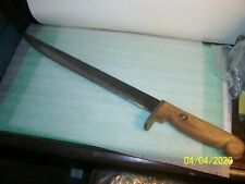 Large vintage CUSTOM, HOMEMADE KNIFE - 22 inches - wooden grip- Carbon Steel