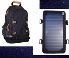Backpack W/Solar panel Charger USB Charging travel Camping,School hiking