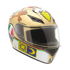 AGV K-3 The Chicken Rossi Replica Motorcycle Helmet (Gold/White) M (Medium)