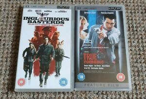 INGLORIOUS BASTARDS & TRUE ROMANCE UMD VIDEOS FOR PSP QUENTIN TARANTINO
