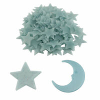 Stars & Moon Glow In The Dark Luminous Fluorescent Home Room Wall Decal Stickers