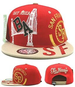 San Francisco New Youth Kids Leader The Bay Area 49ers Red Era Snapback Hat Cap