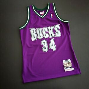 100% Authentic Ray Allen Mitchell & Ness 2000 2001 Bucks Jersey Size 40 M Mens