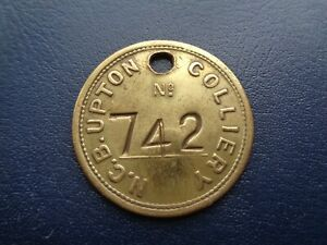 Upton Colliery Miners Mining Pit Check Token Yorkshire Area
