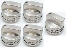 Stainless Knob for LG EBZ37189611 WB03K10286  Stove Range Non Super Broil 5-Pack