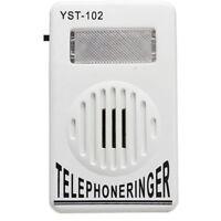 Very Bright & Loud 120dB Telephone Ringer, Strobe Light Phone Flasher Home Work