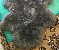 Fur Grey Carpet Lambskin Runner Bedside Rug IN Mint Condition Sheepskin