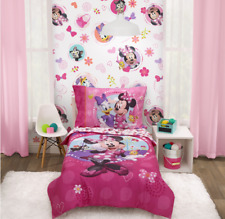 Disney Minnie Mouse Happy Helper Toddler Bedding Sets, Toddler Bed, Pink, 4-Piec