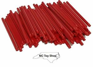 "100 KNEX Red Rods 5-1/8"" Bulk Standard Lot Replacement Parts Pieces K'NEX"