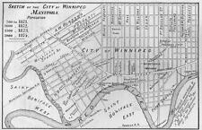 Print. 1873-4. Map of Winnipeg Manitoba Canada