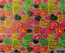 Nailart stickers ongles autocollants: coeurs multicolores et dorés design