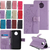 For Motorola Moto G5 G5s G6 plus Wallet Flip Leather Card Slots Stand Case Cover