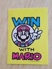 1989 Nintendo Of America Tips Video Game Sticker Wiliams Super Mario Bros Win