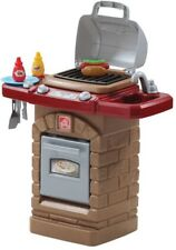 Outdoor Grill Playset Kids Pretend Play Toy Stone Oven Barbeque Cute Backyard