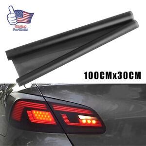 Light Black Car Rear Lights Tail Light Film Sticker Trims Wrap Accessories New