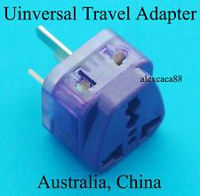 UK USA Euro AU to Australia China Universal Power Plug Travel Adaptor Dual New