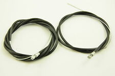RALEIGH CHOPPER BIKE MK 1 or 2 RIBBED BLACK FRONT AND REAR BRAKE CABLE SET