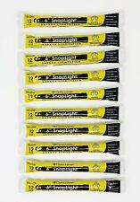 """Cyalume Snaplight Light/Glow Sticks 6"""" 10 PACK YELLOW"""