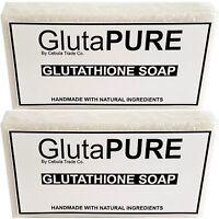 2x Pack Gluta Glutathione Soap Bars for Skin Whitening Lightening Bleaching G1