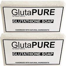 2x Pack Gluta Glutathione Soap Bars for Skin Whitening Lightening Bleaching K1