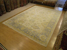 10 x 14 Hand Knotted Handmade Oushak Rug Vegetable Dyes Hand Spun Fine Soft Wool
