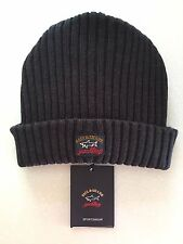 NEW Paul & Shark Winter Hat Cap Capello Beanie Dark GREY