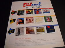 SALSOUL 1994 Promo Poster Ad TOO KRAZY Michael Livingston SYNERGY First Choice