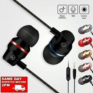 Super Bass 3.5mm In-Ear Earbuds Mic Stereo Earphones Braided Headsets Headphones