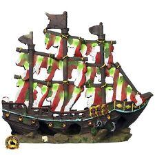 Aquarium Shipwreck Large Decorations Sunken Ship Pirate Fish Tank Ornaments New
