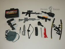 GI Joe 12 inch Action Figure Doll Lot of 15x Weapons Knife Machine Guns Swords