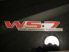 WS7 Emblem Badge, Mirror Stainless Steel & choose color WS7