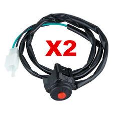 2x Kill Switch off Stop Horn Button Pit Dirt Bike 50cc 125 140 Quad Thumpstar