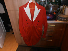 1920s Carlow Hunt Bespoke White Tie Tailored Red  Tailcoat C/w  Hunt Buttons