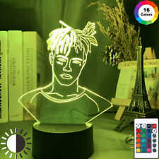 American Rapper XXXTentacion 3D Led Night Light/Figure Home/Bedroom Decoration