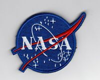 NASA embroidered Meatball Patch circle is 3 inches w/ hook & loop