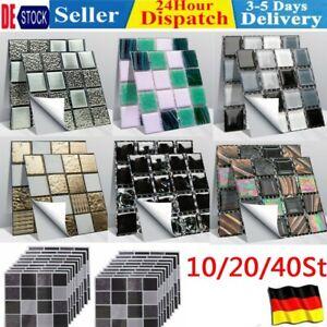 10-40 3D Mosaik Küche Bad Fliesenaufkleber Wandaufkleber Fliesenfolie Klebefolie