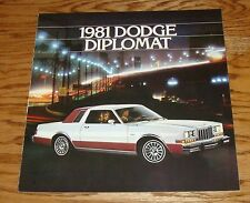 Original 1981 Dodge Diplomat Sales Brochure 81 Coupe Salon Medallion
