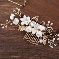 1X Flower Hair Combs Headdress Prom Bridal Wedding Hair Accessories- FT