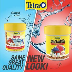 TETRA BETTA BETTAMIN SMALL PELLETS 1.02 OZ COLOR FISH FOOD. FREE SHIP TO THE USA