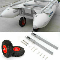 Boat Transom Launching Wheel Dolly Inflatable Dinghy Yacht Tender Trailer 300Lbs